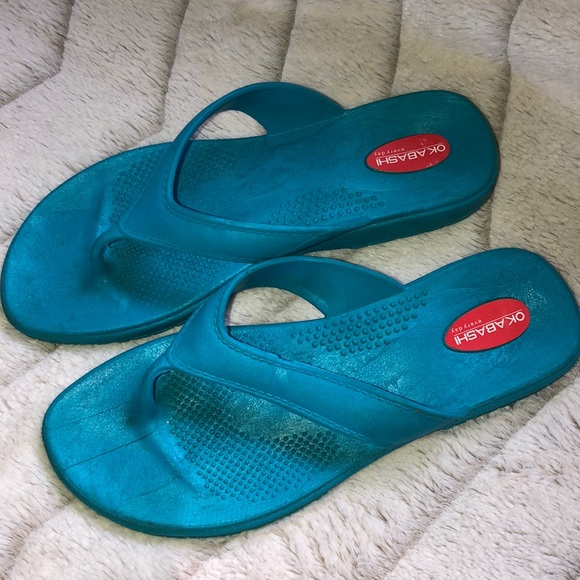 Okabashi Shoes - Okabashi teal sandals - ML